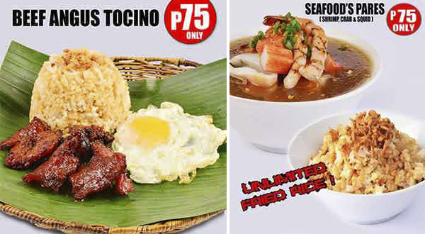 They've got Beef Angus Tocino and Seafood. (via Kumpares, FB page)