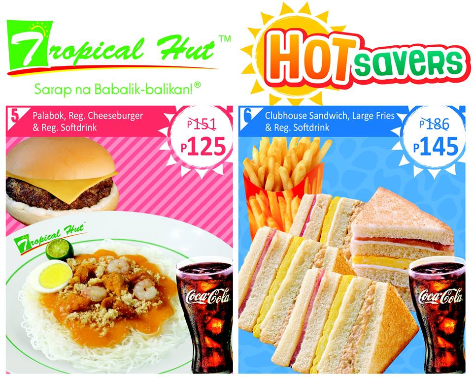 tropical hut hamburger Capturing every filipinos taste buds through the years, tropical hut is everyone's go-to place when craving for affordable and delicious grubs from a variety of filling hamburgers, tropical hut also offers a spread of affordable rice meals, sandwiches, and desserts that will surely satisfy your everyday desires.