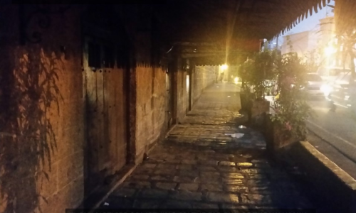 Someone seems to be at the end of the walkway [Randy Topacio]