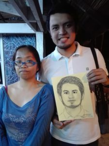 Privileged to be sketched by one of their local artist, Ms Jen Lorenzo