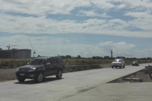 Friendship route access road to C5 extension from S. Marquez Road in Gatchalian Subdivision is now open. [Photo: Homerun Nievera]
