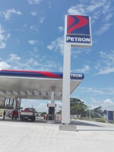Soon to open Petron along C5 extension. [Photo: Homerun Nievera]