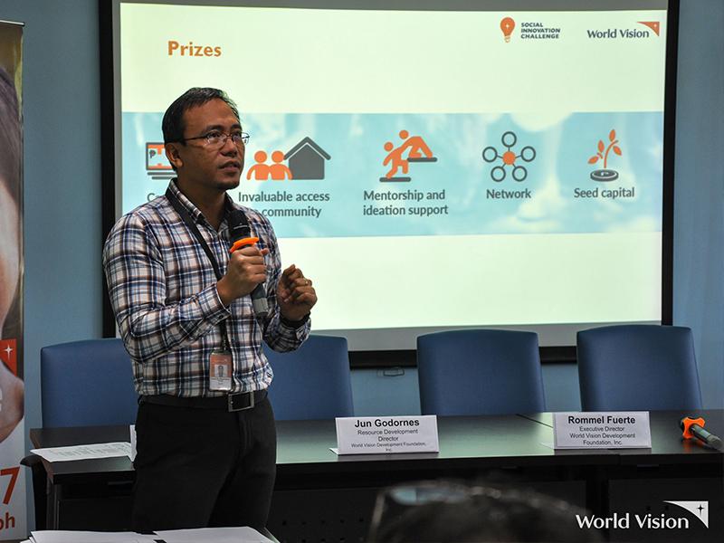 Mr. Jun Godornes, Resource Development Director of World Vision